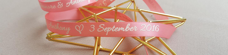 Mylove design hk bespoke wedding invitation and premium gifts in customized printing wedding ribbons stopboris Choice Image